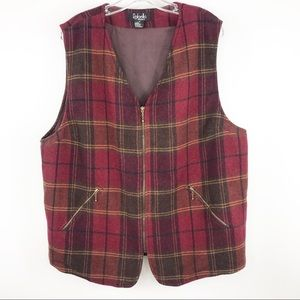 Rafaela Women 1X plaid lined vest